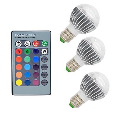 3W 300 lm E26/E27 مصابيح كروية LED G50 1 الأضواء COB تخفيت ديكور جهاز تحكم RGB أس 85-265V