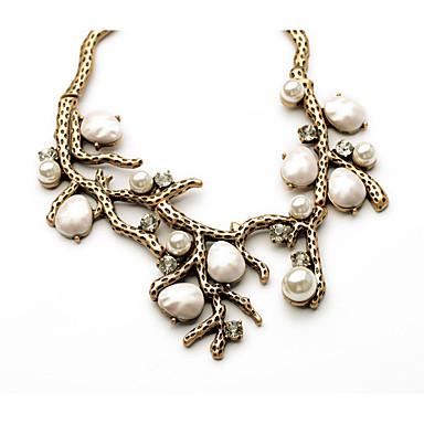 Pentru femei Coliere Cristal Leaf Shape Design Unic bijuterii de lux Personalizat Alb Bijuterii Pentru 1 buc