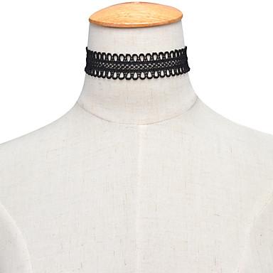 Kadın's Tek Dizi Circle Shape Kişiselleştirilmiş Moda Euramerican minimalist tarzı Avrupa Gerdanlıklar Mücevher Dantel Gerdanlıklar ,
