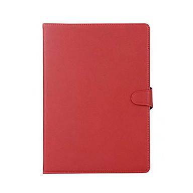 Pentru Titluar Card Cu Stand Auto Sleep / Wake Întoarce Magnetic Maska Corp Plin Maska Culoare solida Greu PU piele pentru AppleiPad