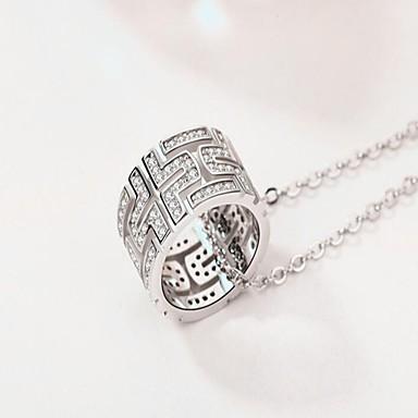 Kadın's Zincir Kolyeler Bakır Dairesel Tasarım Temel Mücevher Uyumluluk Günlük