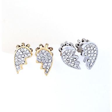 Cercei Stud Cristal Design Unic Personalizat Euramerican Auriu Argintiu Bijuterii Pentru Nuntă Petrecere Zi de Naștere 1 pereche