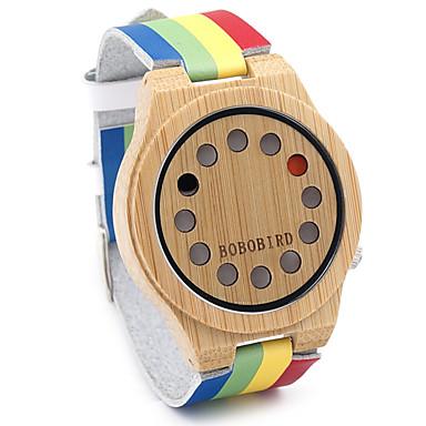 Męskie Modny Zegarek na nadgarstek Unikalne Kreatywne Watch Na codzień Zegarek Drewno Japoński Kwarcowy Kwarc japoński drewniany Skóra