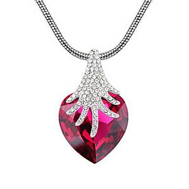 Damskie Naszyjniki z wisiorkami Biżuteria Biżuteria Kamień szlachetny Stop Unikalny Słodkie Style Czerwony Light Blue Biżuteria NaImpreza