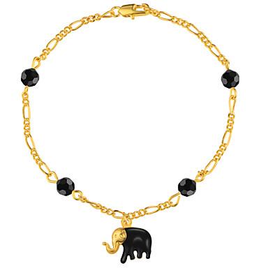 للرجال للمرأة أساور السلسلة والوصلة مجوهرات موضة نحاس مطلية بالذهب حيوان مجوهرات هدايا عيد الميلاد مناسبة خاصة الذكرى السنوية عيد ميلاد