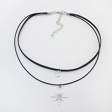 billige Mode Halskæde-Dame Kort halskæde Smykker Smykker Fjer Legering Euro-Amerikansk Mode Personaliseret Smykker Til Fest Speciel Lejlighed