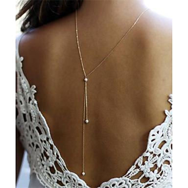 Pentru femei Imitație de Perle Imitație de Perle Coliere cu Pandativ  -  Design Unic Line Shape Auriu Argintiu Coliere Pentru Cadouri de