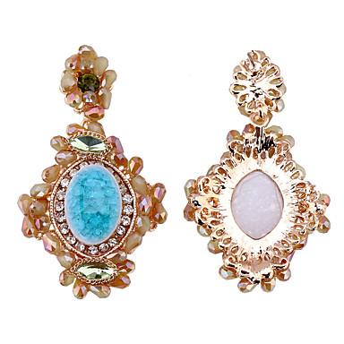 Küpe Set Kristal Euramerican Moda Kişiselleştirilmiş alaşım Mavi Mücevher Için Düğün Parti 1 çift