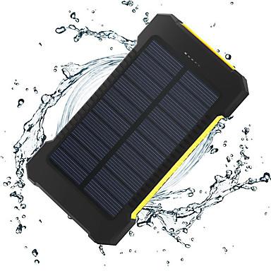 8000mAh البنك طاقة البطارية الخارجية 5V 1.0A 2.0AA شاحن بطارية ضوء فلاش مخارج متعددة شحن شمسي نحيل جداً عملة أتوماتيكة