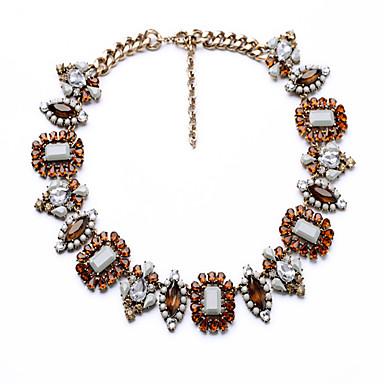 Kadın's Tellerinin Kolye Geometric Shape Eşsiz Tasarım Euramerican Turuncu Mücevher Için Parti Yılbaşı Hediyeleri 1pc