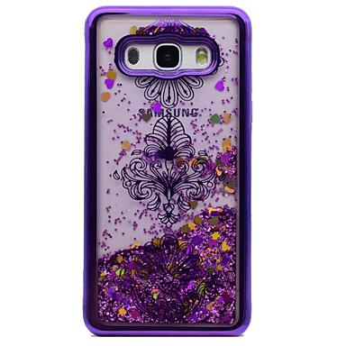 hoesje Voor Samsung Galaxy J5 (2016) J3 (2016) Beplating Stromende vloeistof Patroon Achterkant Bloem Glitterglans Zacht TPU voor J5