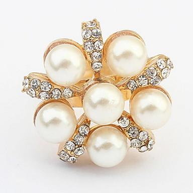 Pentru femei Inel Band Ring Ștras Imitație de Perle Personalizat Floral Design Unic Stil Logo Stil Floral Clasic Vintage Boem De Bază