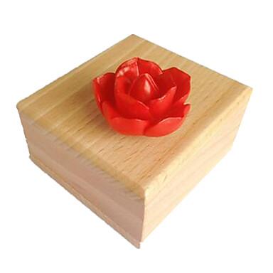 الصندوق الموسيقي ألعاب مربع بطة راتينج خشب قطع للجنسين هدية