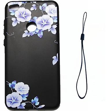 Für huawei p8 lite (2017) p10 Fallabdeckung blaue Blumen Muster Kraftstoffeinspritzung Relief Überzug Knopf dicker tpu Material Telefon