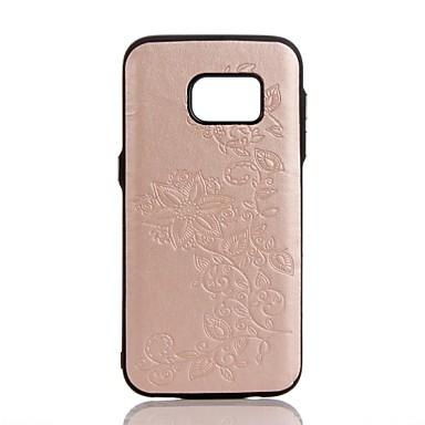Pouzdro Uyumluluk Samsung Galaxy S8 Plus S8 Süslü Arka Kapak Çiçek Sert PU Deri için S8 Plus S8 S7 edge S7