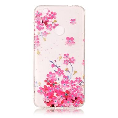 Etui Käyttötarkoitus Huawei IMD Läpinäkyvä Kuvio Takakuori Perhonen Kukka Pehmeä TPU varten Huawei P10 Lite Huawei P10 Huawei P9 Lite