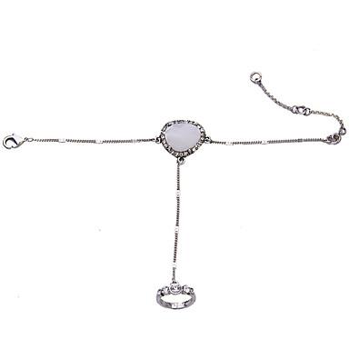 Damskie Bransoletka z pierścionkiem Modny Stop Oval Shape Round Shape Biżuteria Na Impreza Specjalne okazje 1szt