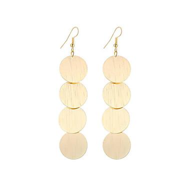 Pentru femei Cercei Picătură Bijuterii Design Circular Stil Atârnat Vintage Boem Elegant Modă stil minimalist Argilă Placat Auriu Aliaj