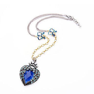 Kadın's Uçlu Kolyeler Kristal Eşsiz Tasarım Moda Kişiselleştirilmiş Euramerican Koyu Mavi Mücevher Için Düğün Parti 1pc