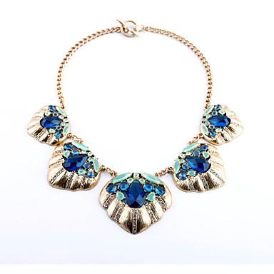 Kadın's Tellerinin Kolye Geometric Shape Kişiselleştirilmiş lüks mücevher Koyu Mavi Mücevher Için Düğün 1pc