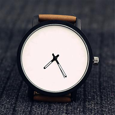 Dames Modieus horloge Chinees Kwarts Leer Band Zwart Bruin