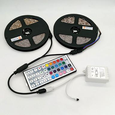 ZDM® Φωτολωρίδες RGB 600 LEDs RGB Τηλεχειριστήριο Μπορεί να κοπεί Με ροοστάτη Αυτοκόλλητο DC 12V