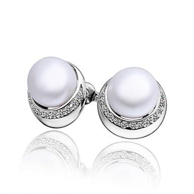 Pentru femei Cercei Stud Zirconiu Cubic Imitație de Perle Personalizat Γεωμετρικά Design Circular Design Unic Vintage Stras Boem De Bază