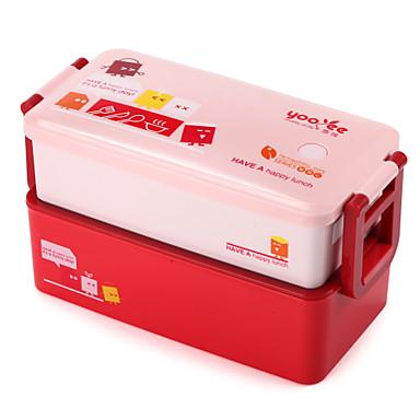 800 ml süteményes műanyag konténer kötegelhető bento doboz