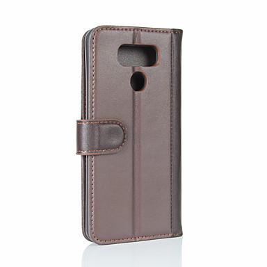 ieftine Carcase / Huse de LG-Maska Pentru LG LG G6 Portofel / Titluar Card / Întoarce Carcasă Telefon Mată Greu Piele autentică