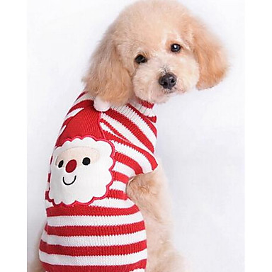 كلب المعاطف البلوزات ملابس الكلاب حيوان أحمر قطن كوستيوم للحيوانات الأليفة للرجال للمرأة جميل كاجوال / يومي موضة عيد الميلاد