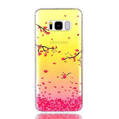Maska Pentru Samsung Galaxy S8 Plus S8 Stras IMD Translucid Model Carcasă Spate Copac Floare Greu PC pentru S8 S8 Plus S7 edge S7