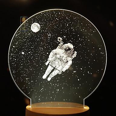 1pc lămpi creative lună lampă galaxie noapte