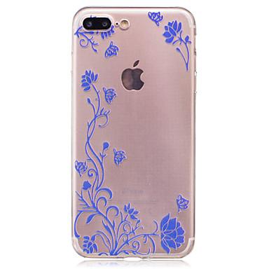 غطاء من أجل Apple iPhone 7 Plus iPhone 7 IMD شفاف غطاء خلفي زهور ناعم TPU إلى iPhone 7 Plus iPhone 7 iPhone 6s Plus ايفون 6s iPhone 6