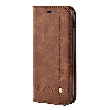 غطاء من أجل Samsung Galaxy S8 Plus S8 حامل البطاقات محفظة مع حامل قلب مغناطيس كامل الجسم لون الصلبة قاسي جلد اصطناعي إلى S8 S8 Plus