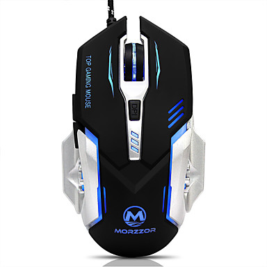 MORZZOR Cablu mouse-ul pentru jocuri DPI ajustabil iluminare din spate