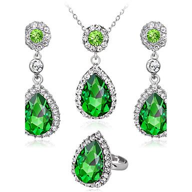 Pentru femei Seturi de bijuterii Inel Colier / cercei Modă Euramerican Nuntă Petrecere Ocazie specială Zi de Naștere Logodnă Zilnic Ștras