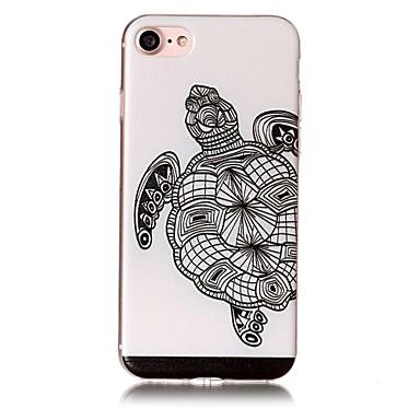 Etui Käyttötarkoitus Apple iPhone 7 Plus iPhone 7 Kuvio Koristeltu Takakuori Eläin Pehmeä TPU varten iPhone 7 Plus iPhone 7 iPhone 6s