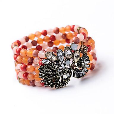 Kadın's Wrap Bilezikler Mücevher Arkadaşlık Moda alaşım Flower Shape Beyaz Turuncu Mücevher Için Doğumgünü 1pc