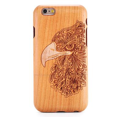 Για Apple iPhone 6 6s κάλυψη περίπτωσης ανάγλυφο μοτίβο πίσω κάλυψη περίπτωση ξύλου κόκκους ζώο σκληρό στερεό ξύλο