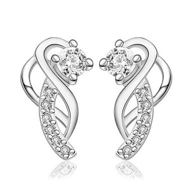Kadın's Vidali Küpeler Kübik Zirconia Kişiselleştirilmiş Wzór geometryczny Eşsiz Tasarım Vintage Yapay elmas Bohem Temel Dörtgen