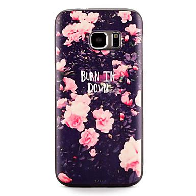 Pouzdro Uyumluluk Samsung Galaxy S7 edge S7 Temalı Arka Kapak Çiçek Yumuşak TPU için S7 edge S7