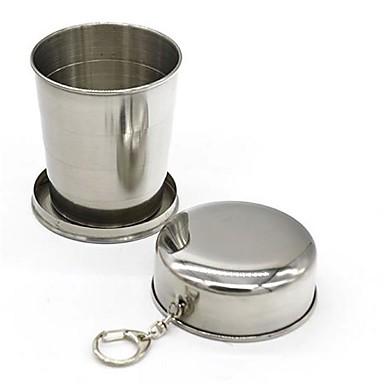 أدوات الشرب, 240 ml قابلة للطى الفولاذ المقاوم للصدأ القهوة بيرة أواني الشرب اليومية كأس ماء × 2