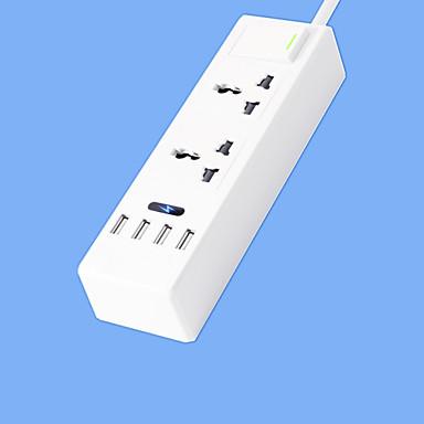 Super viteză bandă de putere cu 2 picioare cablu inteligent 4 usb adaptor de alimentare 220v 10a us plug