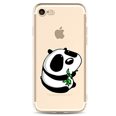 غطاء من أجل Apple شفاف نموذج غطاء خلفي كارتون باندا ناعم TPU إلى فون 7 زائد فون 7 iPhone 6s Plus iPhone 6 Plus iPhone 6s أيفون 6