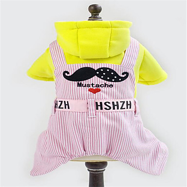 Câine Salopete Îmbrăcăminte Câini Respirabil Draguț Dungi Albastru Roz Costume Pentru animale de companie