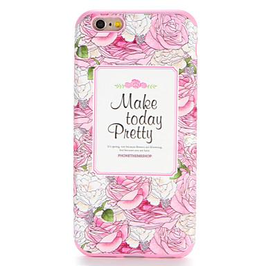 Voor apple iphone 7 7plus case cover patroon achterblad case woord / zin bloem soft tpu 6s plus 6 plus 6s 6