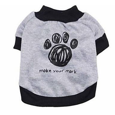 Pies T-shirt Ubrania dla psów Urocza Sportowe Modny Litera i numer Gray Kostium Dla zwierząt domowych