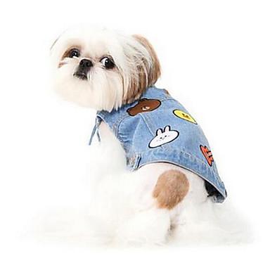 Psy Yelek Ubrania dla psów Lato Kreskówka Urocze Modny Codzienne Light Blue