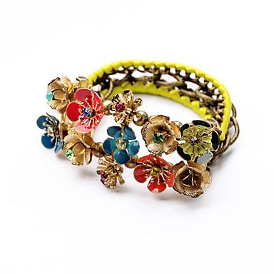 Damskie Bransoletki i łańcuszki na rękę Postarzane Stop Flower Shape Biżuteria Na Ślub Urodziny 1szt
