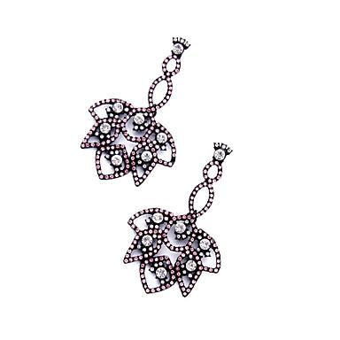 Halka Küpeler Kristal Eşsiz Tasarım Kişiselleştirilmiş Euramerican Gümüş Mücevher Için Düğün Parti Doğumgünü 1 çift